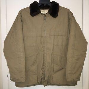 Vintage 70s L.L.Bean Fur Collar Heavy Puff Jacket